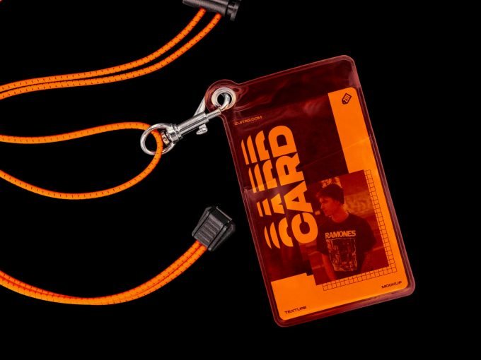 Plastic ID Card and Lanyard Mockup - Cover1