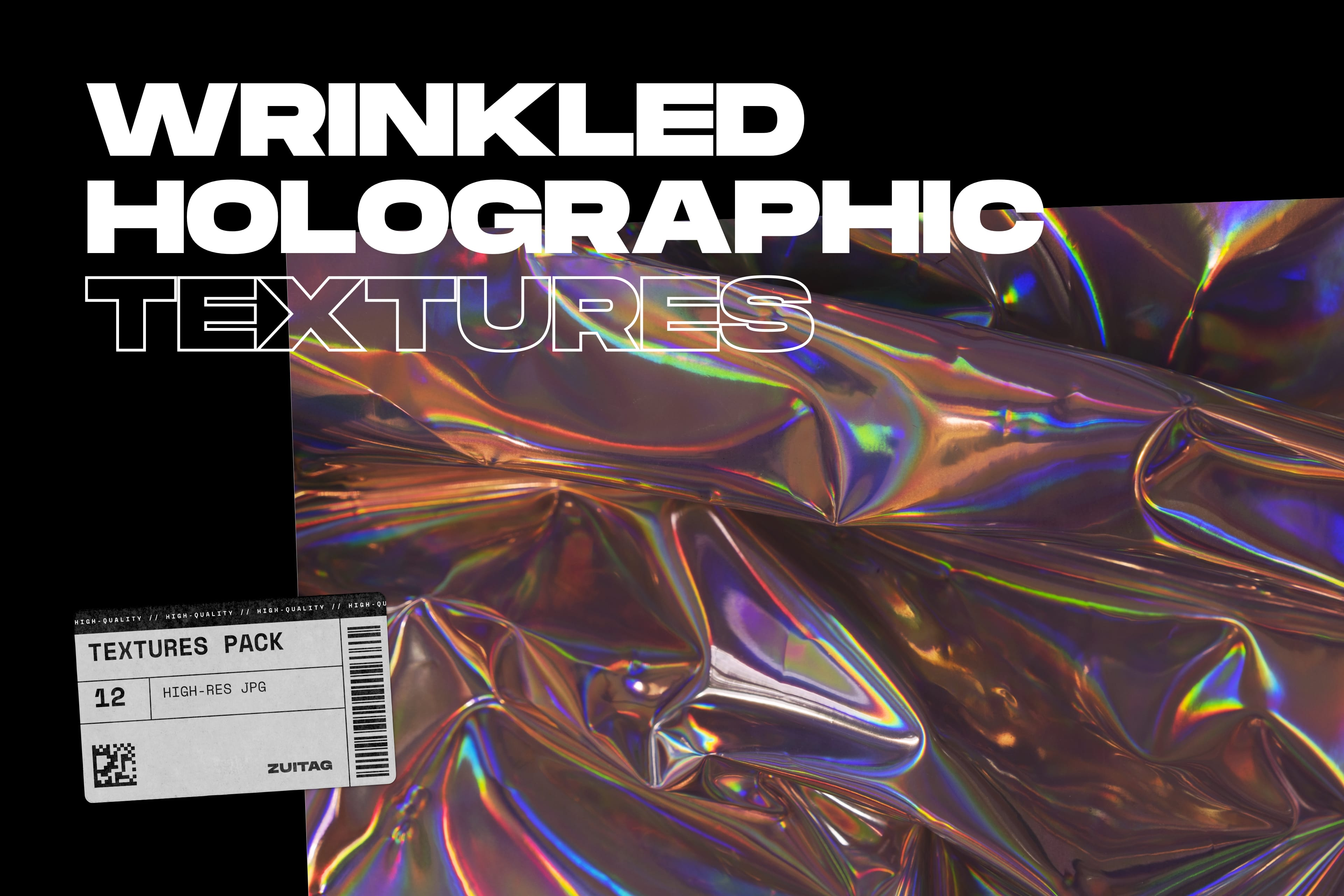 Wrinkled Holographic Textures - Cover
