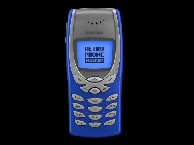 Retro Phone Mockup - Product Image 1