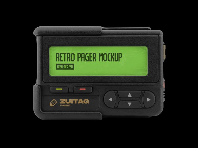 Retro Pager Mockup - Product Image 1