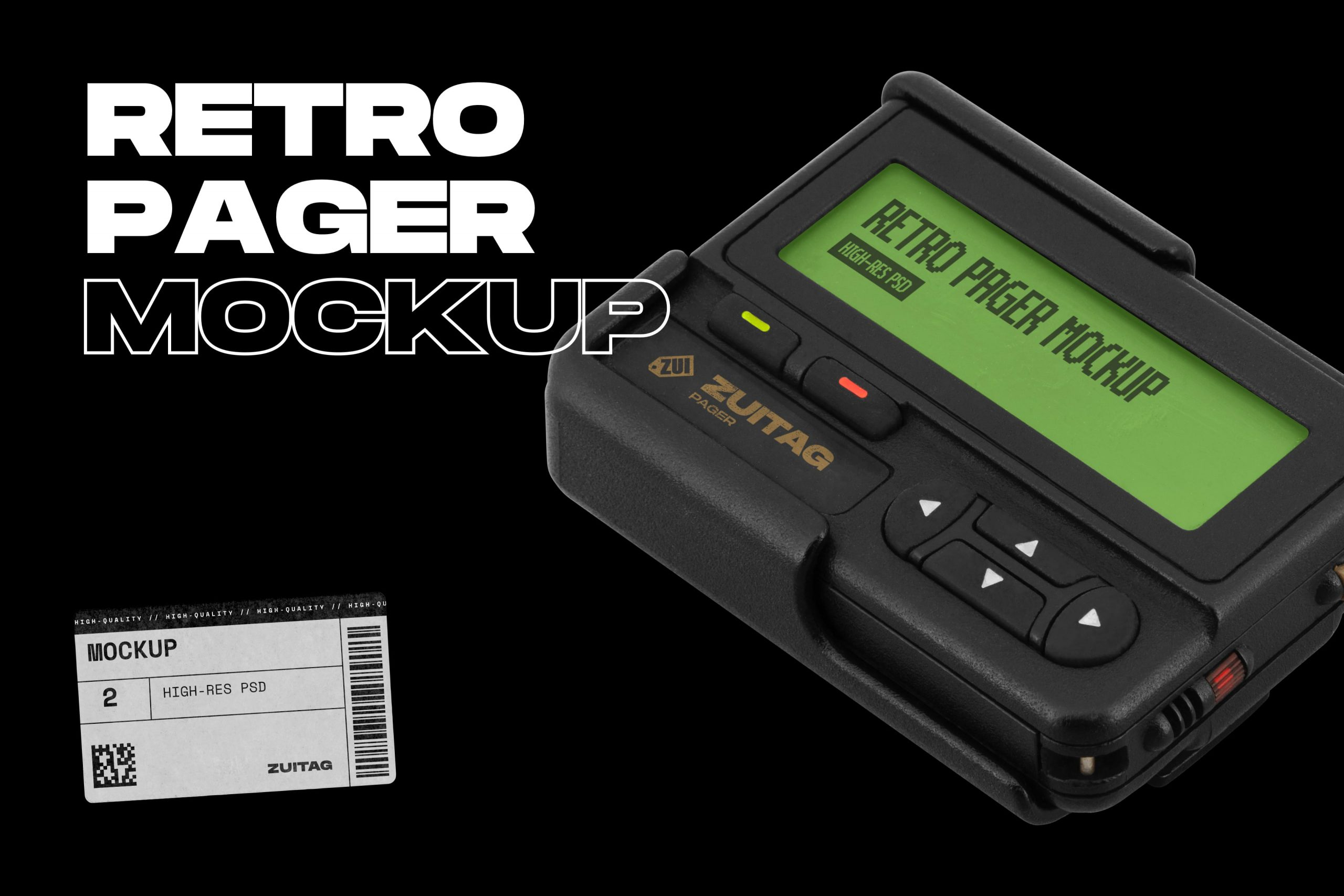 Retro Pager Mockup - Cover